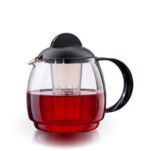 boral glas teekanne mikrowellenkanne 18l mit teesieb