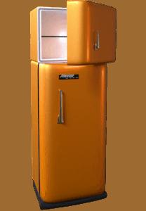 retro kühlschrank orange