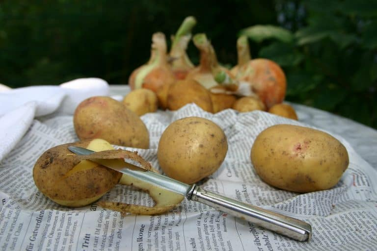 Kartoffeln mit Schäler