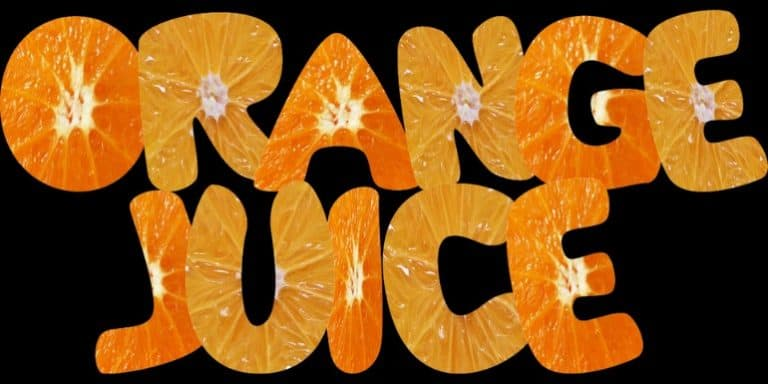 Schriftzug: Orange Juice