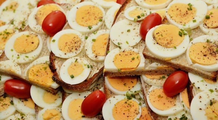 geschnittene Eier